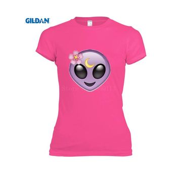Tumblr Alien women's t shirt organic cotton Printing round Neck tshirt Fit Tops Tees casual t-shirt fashion