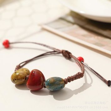 Hot Sale Stylish New Arrival Shiny Great Deal Awesome Gift Pottery Handcrafts Bracelet [10417788692]
