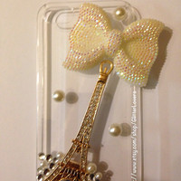 Handmade Crystal Eiffel Tower iPhone 5 case by GlitterLovers