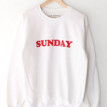 Sunday Oversized Sweatshirt - White