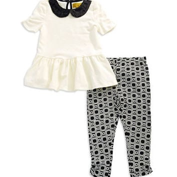 Nicole Miller Girls 2-6x Two Piece Peplum Set
