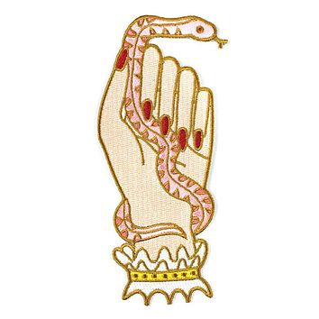 Snake Hand Large Patch - Creme