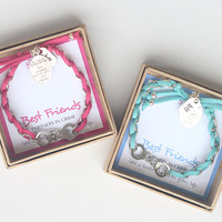 Best Friends: Partners in crime, Handcuffs, Well behaved women rarely make history charm and BFF Charm Bracelet