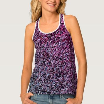 Multi-colored abstract pattern tank top