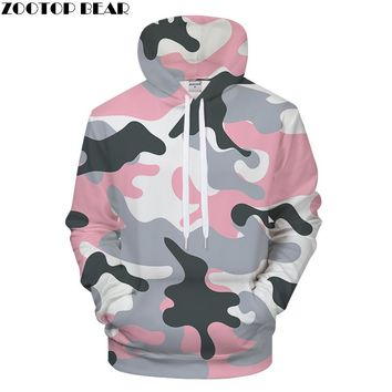 Pink Camo 3DPrint Hoodies Men Clothing Women Sweatshirt Casual Tracksuit Fashion Hoodie Coat 6xl Pullover Drop ship ZOOTOP BEAR