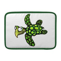 """""""Little Dave"""" Turtle, Fish with Attitude Sleeves For MacBook Air"""