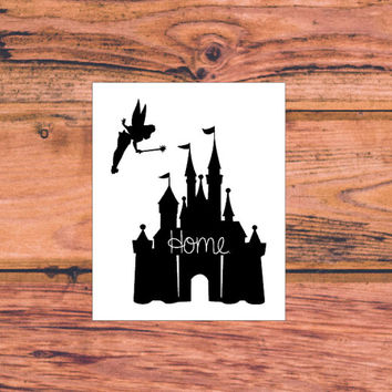 Disney Castle Decal | Minnie Mickey Castle Home Decal | Walt Disney World Decal | Walt Disney Land Decal | Preppy Mickey Minnie Home | 353