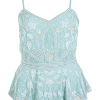 Mint Embellished Cami - Miss Selfridge
