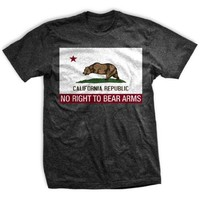 ENDO Apparel California Flag Right to Keep and Bear Arms Infringed Men's T-Shirt