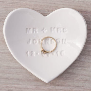 personalised ceramic ring dish by kate charlton ceramics | notonthehighstreet.com