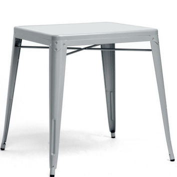 French Industrial Modern Dining Table in Gray