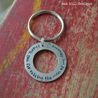 stamped aluminum washer keychainmother or father by OakHillDesigns