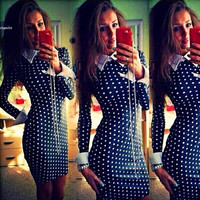 Hot women clothes casual winter party warm bodycon plus size clothing woman dresses long sleeve dress 36