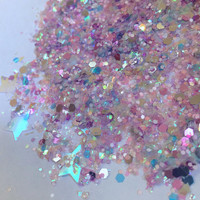 Dusk Dust (Loose Glitter ~6 grams): face, makeup, hair, nail art, festival glitter, costume, unicorn, rave makeup, edc, body glitter, edm