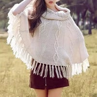 Knitted Fringe Sweater