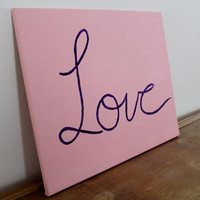 Love canvas painting