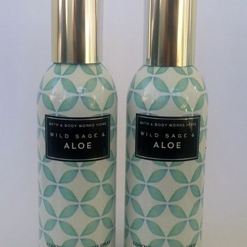 2 Bath & Body Works WILD SAGE & ALOE Room Spray 1.5 oz