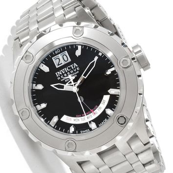 Invicta 1582 Men's Specialty Reserve Black Sunray Dial Swiss Watch