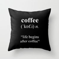 Coffee Throw Pillow by Cafelab