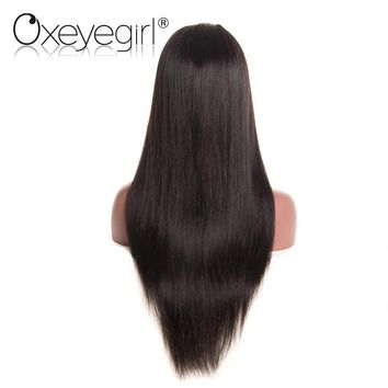 Brazilian Straight Hair Wig Pre Plucked Lace Front Human Hair Wig Non Remy Hair Wigs With Baby Hair