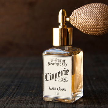 Lingerie Mist - Vanilla Sugar Perfume - Atomizer Bottle Spray 1 oz.