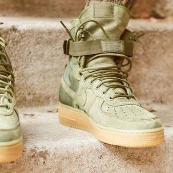 Kalete Nike Special Forces Air Force 1 High 859202-339 Boots Green I