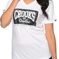 Crooks and Castles Squad Life Box NYC V-Neck Tee Shirt