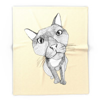 Society6 BigHead Cat Blanket