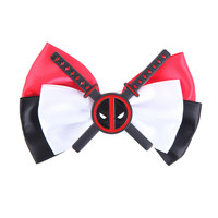 Marvel Deadpool Cosplay Hair Bow