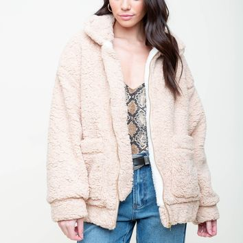 That's For Sherpa Oversized Jacket