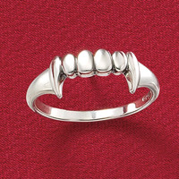 Fangs Ring - New Age, Spiritual Gifts, Yoga, Wicca, Gothic, Reiki, Celtic, Crystal, Tarot at Pyramid Collection