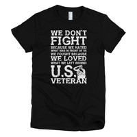We Don't Fight women's t-shirt