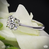 "18k White Gold Vatche ""Bliss"" Solitaire Engagement Ring"