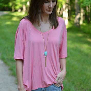 PIKO V-Back Top In Strawberry Ice