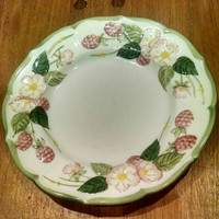 Vintage Metlox Poppytrail Sculptured Berry Bread and Butter Plate, Small Vintage Raspberry Plate for Soap Dish