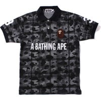 BAPE CHECK CAMO POLO