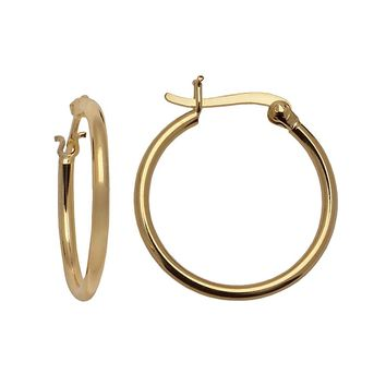 24k Gold-Over-Silver Hoop Earrings (Grey)