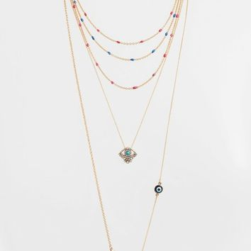 Rebecca Minkoff Beachy Layered Chains Necklace | Nordstrom