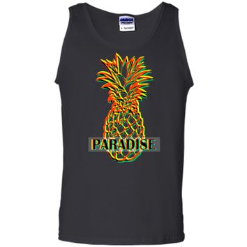 Men_s Women_s T Shirt Tee Vertigo Visual Effect Pineapple Tank Top