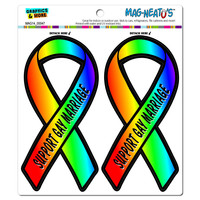 Support Gay Marriage Ribbon MAG-NEATO'S TM Car-Refrigerator Magnet Set