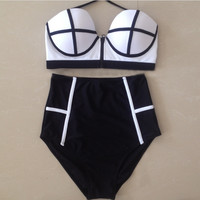 Highwaist Bikini Set Swimsuits