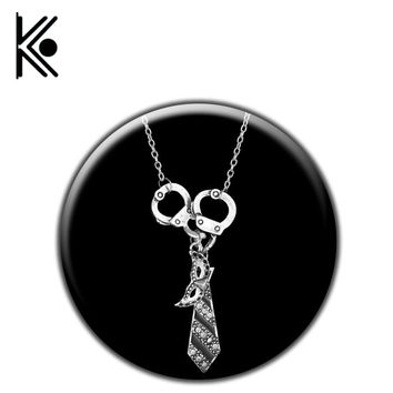 Free Fifty Shades of Grey Darker Freed Christian Charm Necklace Handcuffs Masquerade Mask Necktie Pendant Necklace