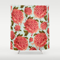 A Splash of Peony, A Dash of Color Shower Curtain by Kristy Patterson Design