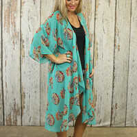 Turquoise headdress duster from PeaceLove&Jewels