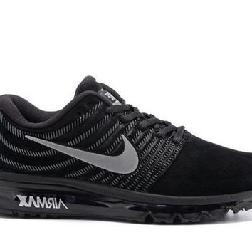 Nike Air Max 2017. Black & Silver. Men's Running Shoes Sneakers 849559 001