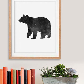 60% OFF SALE Bear Art,Bear Print, Bear Wall Art, Black Bear, Printable Bear Art, Black Bear Decor,Downloadable,Digital,Wall Print,Home Decor