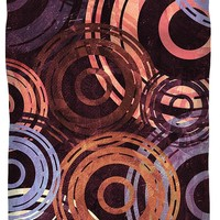 Concentric Intensity - Plum Duvet Cover for Sale by Shawna Rowe - Queen