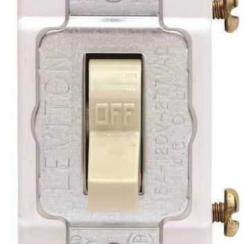 Leviton® 1-pole Commercial Grade Ac Quiet Toggle Switch, Ivory, 120 - 277 Volts, 20 Amps