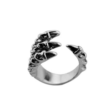 Vintage Bronze Ring Retro Punk Eagle Bird Claw Talon Halloween Jewelry Punk Gothic Skull Sharp Claws Evil Ring Men Gift