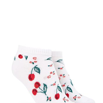 Rose Cherry Ankle Socks